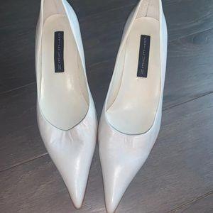 Vintage Steven White Kitten Heels